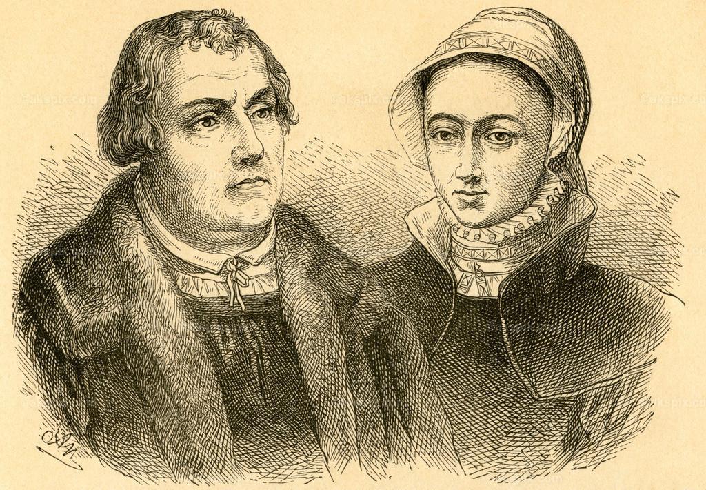 Martin Luther und Katharina von Bora / Martin Luther and Katharina von Bora  | Europa, Deutschland, Sachsen-Anhalt, Eisleben, Martin Luther und Katharina von Bora, Motiv aus :
