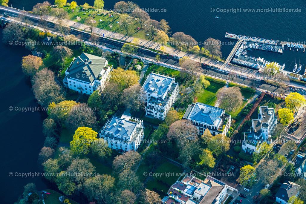 Hamburg_Uhlenhorst_Schöne_Aussicht_Feenteich_ELS_5012200421   HAMBURG 20.04.2021 Häuser und Straßenzug
