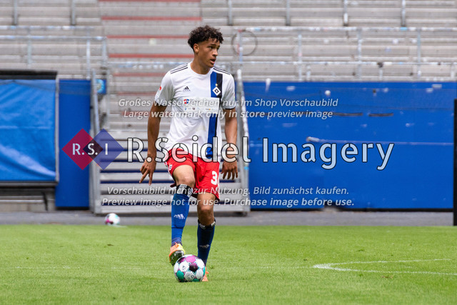 Fußball, Herren, Testspiel, Hamburger SV - FC Hansa Rostock, Volksparkstadion, 09.08.2020   Jonas David (#34 HSV)