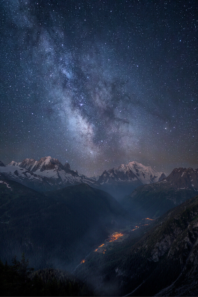 Milky Way Over Mont Blanc