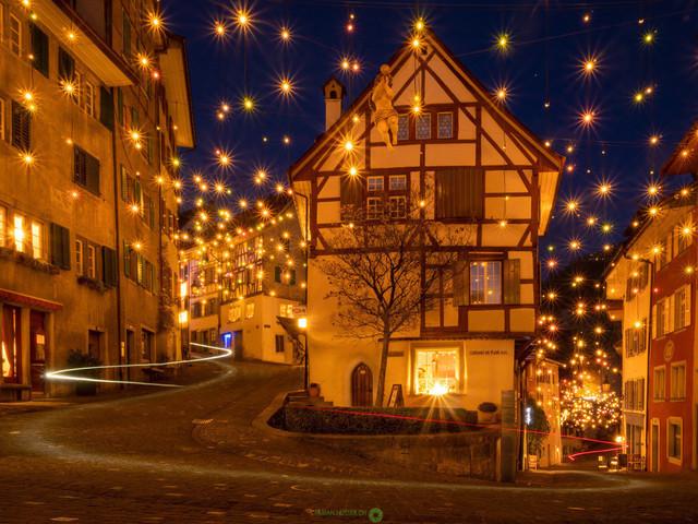 Weihnachten   Weihnachtsstimmung in der Altstadt von Baden