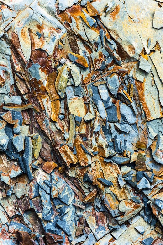 Best. Nr. Strukturen08 | Farbige Bruchstücke, Moore Bay, Co. Clare, Irland