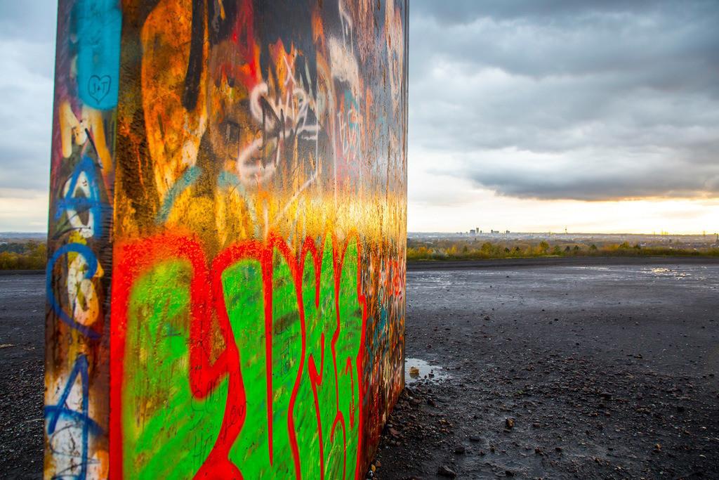 JT-171105-126 | Schurenbachhalde, Kunstwerk des britischen Künstlers Richard Serra,