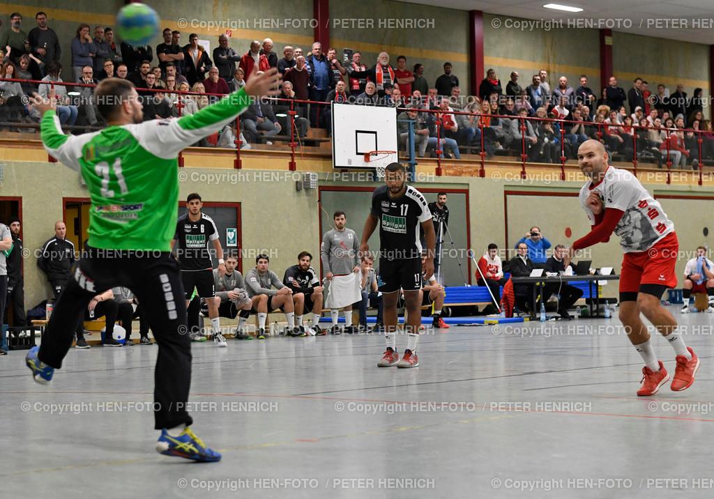 20191201 Handball Männer Oberliga SG RW Babenhausen - Tuspo Obernburg copyright by HEN-FOTO | 20191201 Handball Männer Oberliga SG RW Babenhausen - Tuspo Obernburg (30:26) li TW 21 Manuel Kiss (O) re 31 Felix Mann 7 Treffer (B) copyright by HEN-FOTO Foto: Peter Henrich
