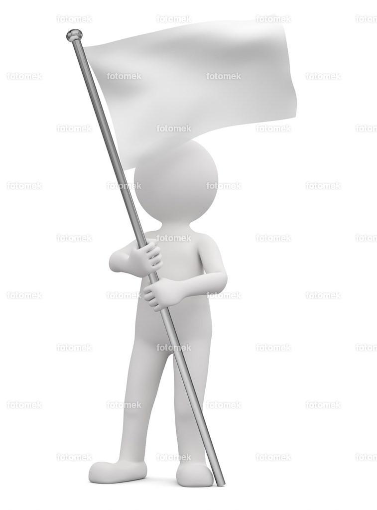 weisse flagge | weisse 3D Männchen von Fotomek