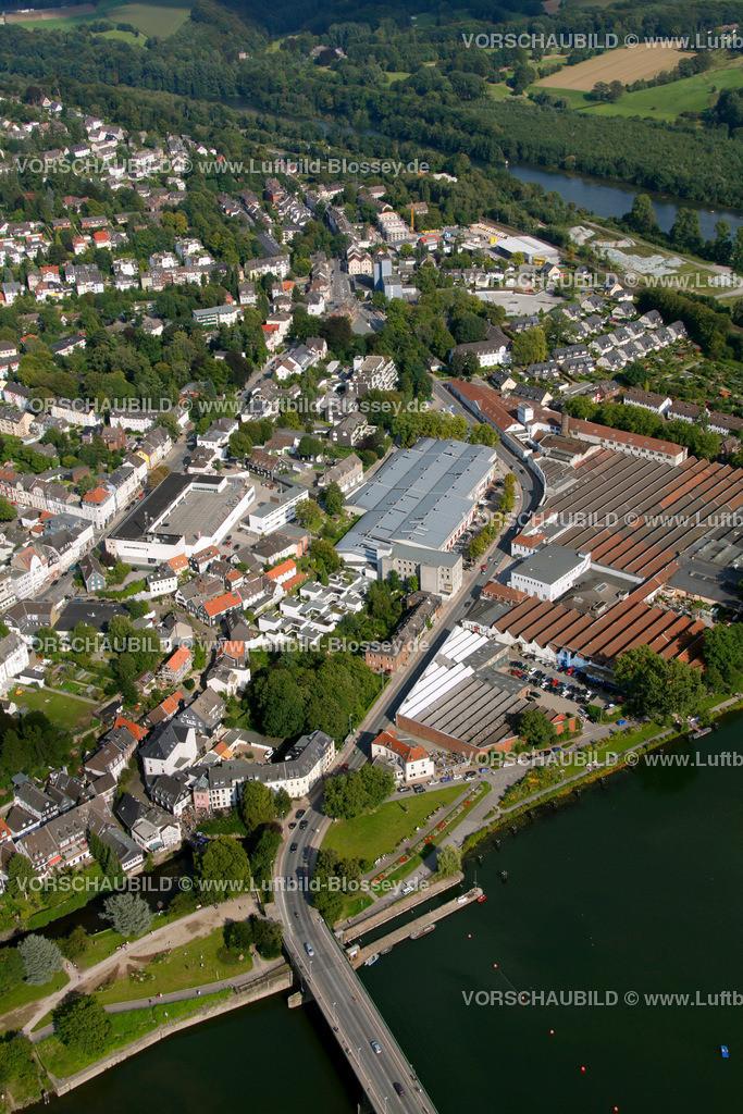 KT10094258a | Ringstrasse, Kettwig, Ruhr, Luftbild,  Essen, Ruhrgebiet, Nordrhein-Westfalen, Germany, Europa, Foto: hans@blossey.eu, 05.09.2010