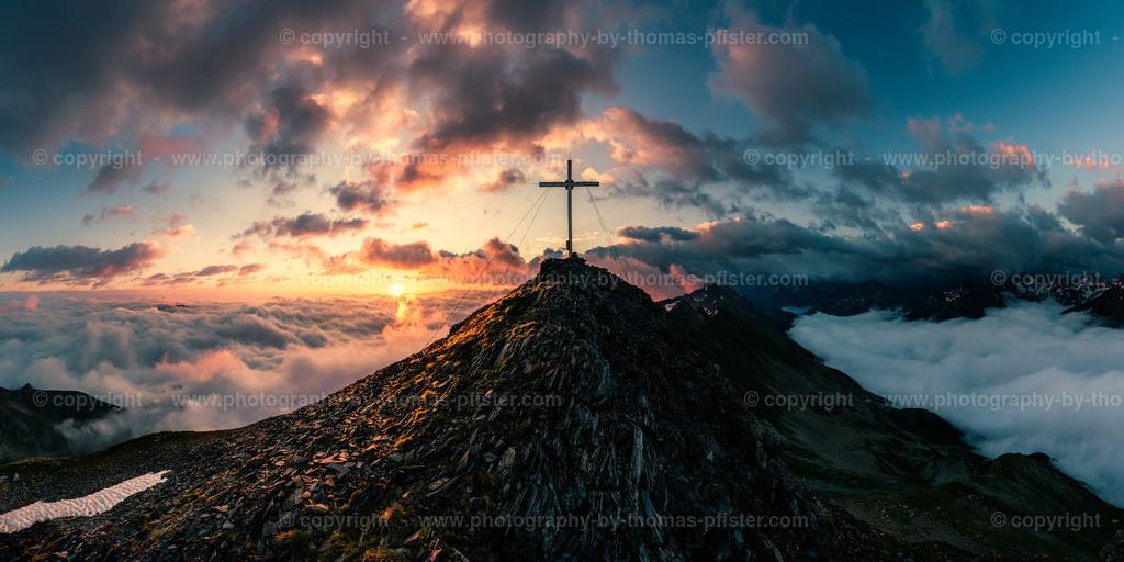 Sonnenaufgang Brandberger Kolm Panorama