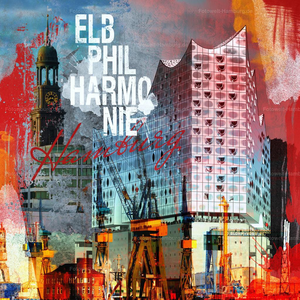 11921096 - Hamburg Collage Elbphilharmonie