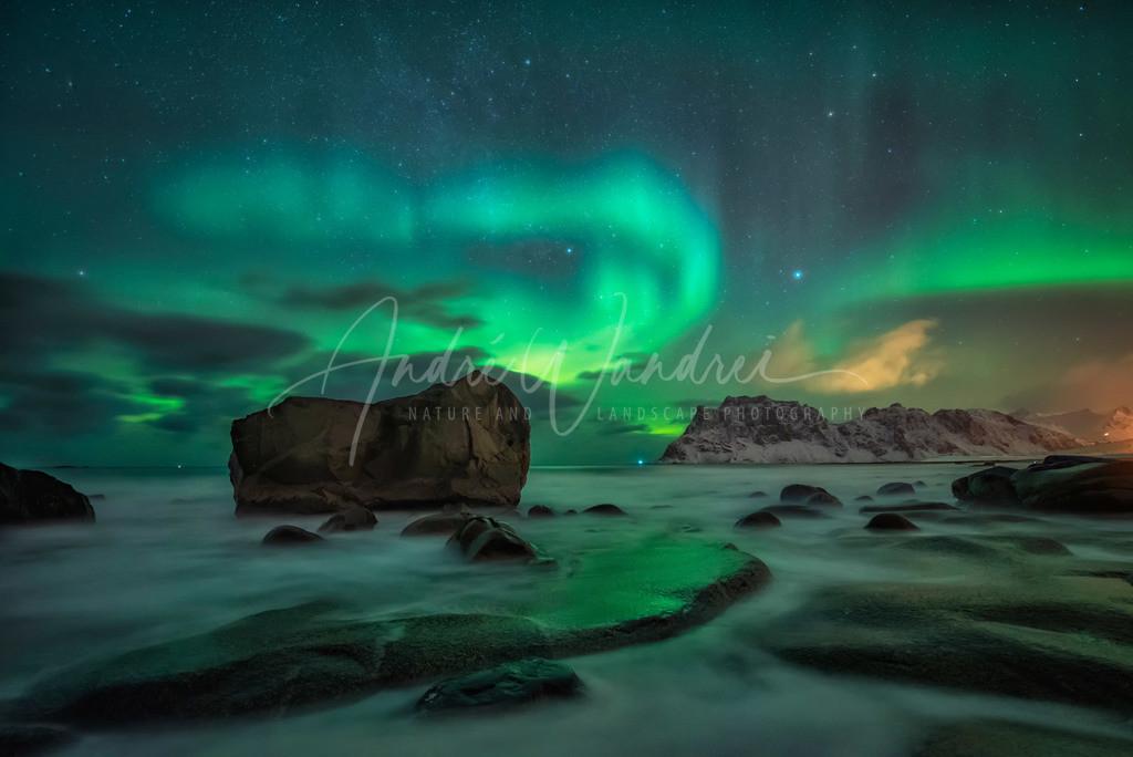 Polarlicht über Uttakleiv