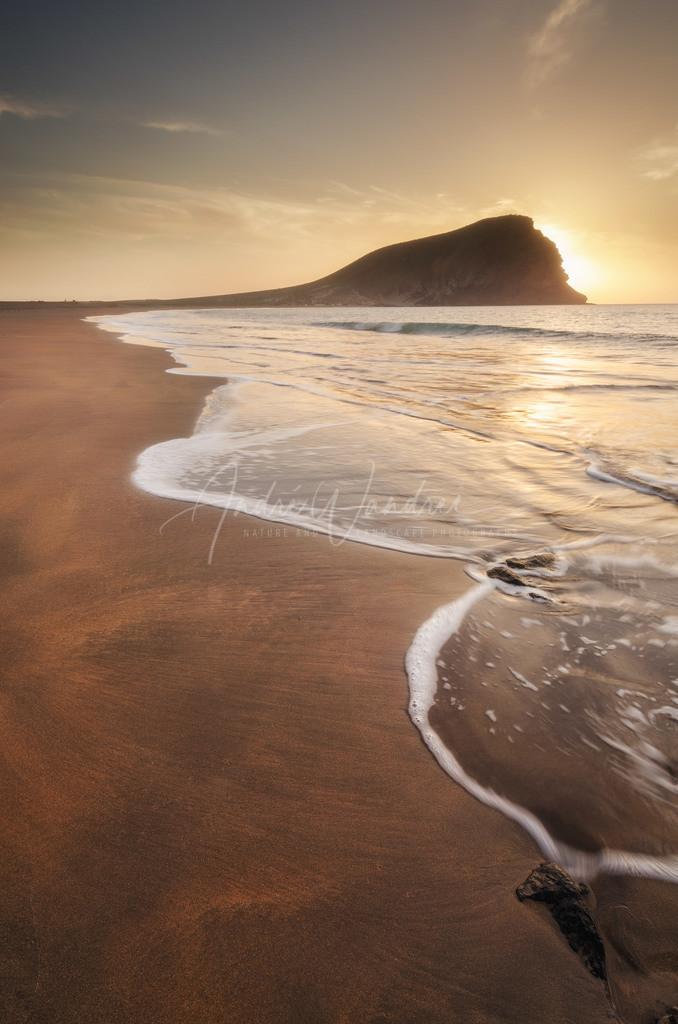 Dem Strand entlang