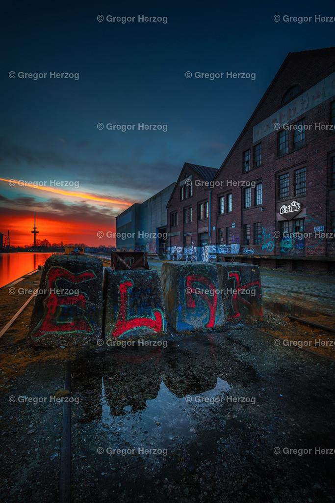 Hafen erwacht Teil 2 | Hafen Münster im Comicstyle
