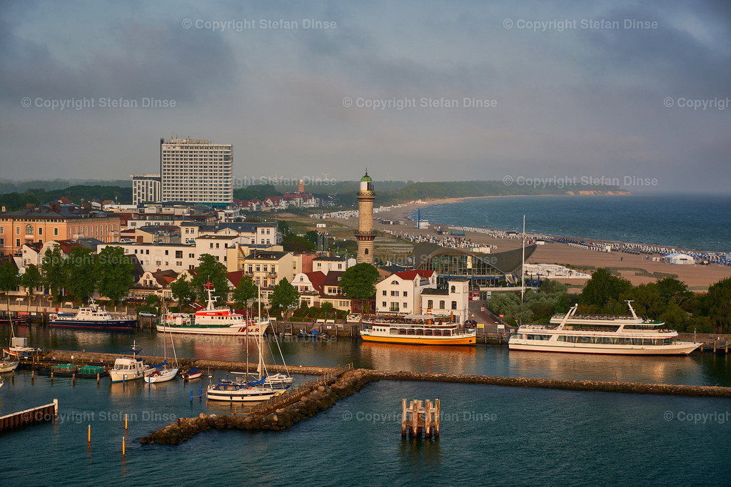 Warnemuende maritime  cityscape in the morning | Warnemuende maritime  cityscape in the morning