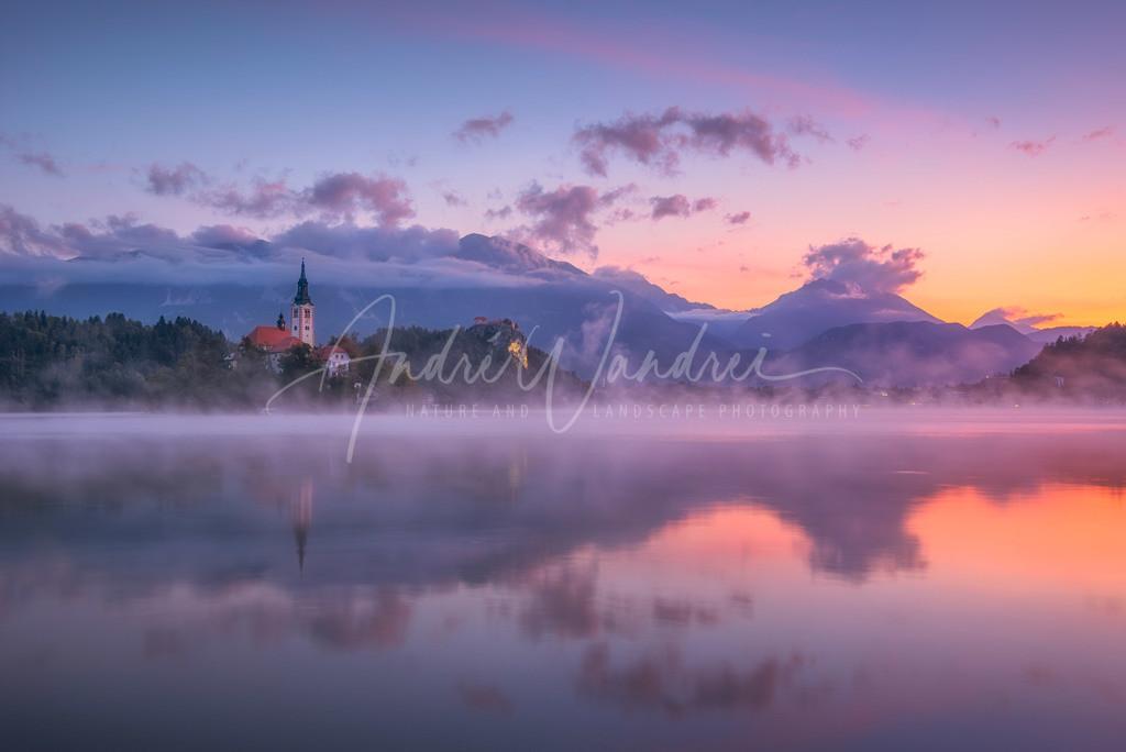Morgendämmerung am Bledersee