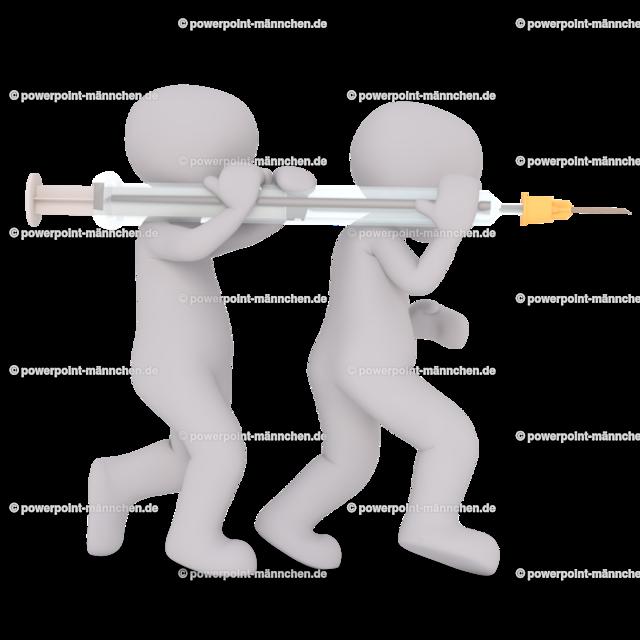 carry the syringe for the injection | Quelle: https://3dman.eu   Jetzt 250 Bilder kostenlos sichern