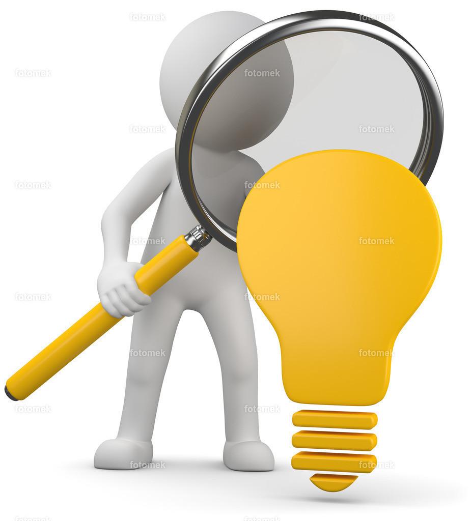 3d Männchen bei der Ideenfindung | 3d Männchen sucht neue Ideen.