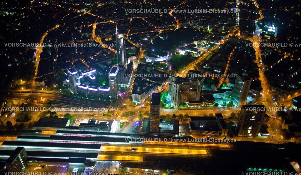 ES10052571 | City mi Hauptbahnhof bei Nacht,  Essen, Ruhrgebiet, Nordrhein-Westfalen, Germany, Europa, Foto: hans@blossey.eu, 14.05.2010