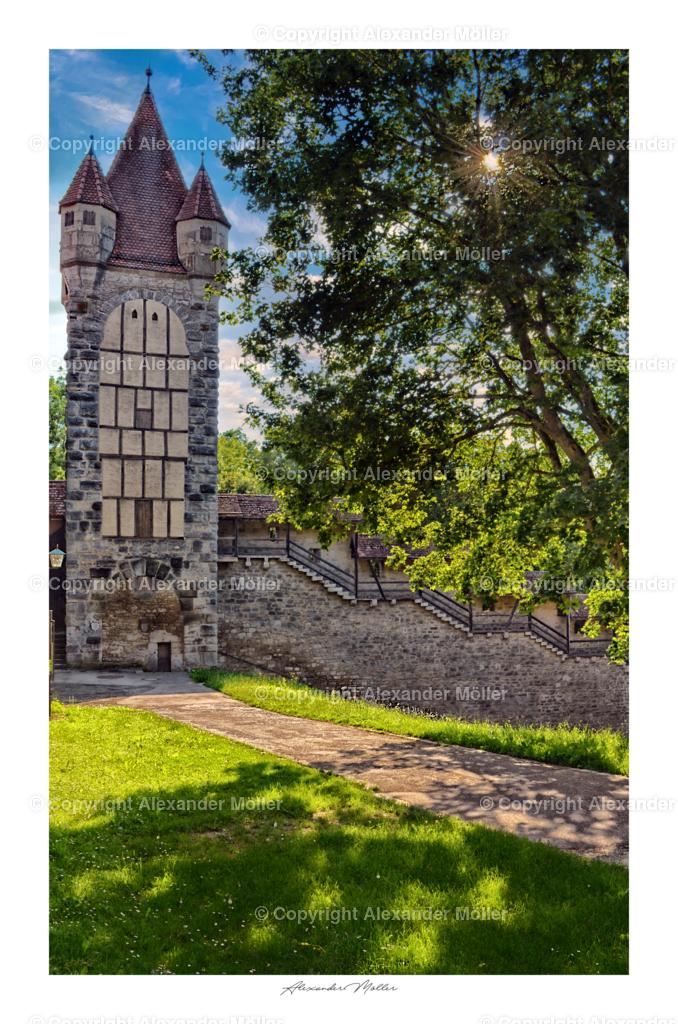 Rothenburg ob der Tauber No.23 | Dieses Werk zeigt den Stöberleinsturm mit Stöberleinsbühne im Spitalviertel von Rothenburg ob der Tauber