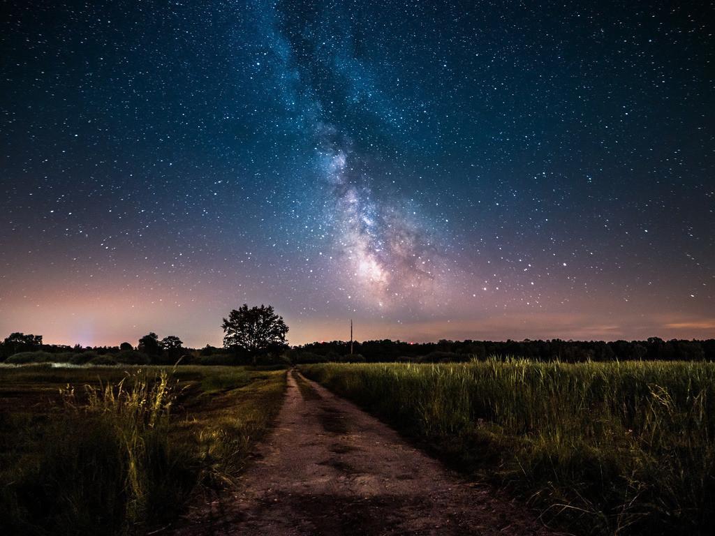 Milchstraße über dem Ried