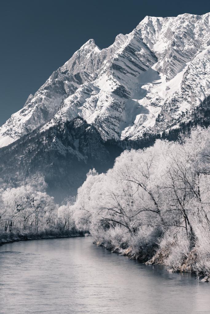 Frostiger Bergblick Nr2   Enns - Grimming