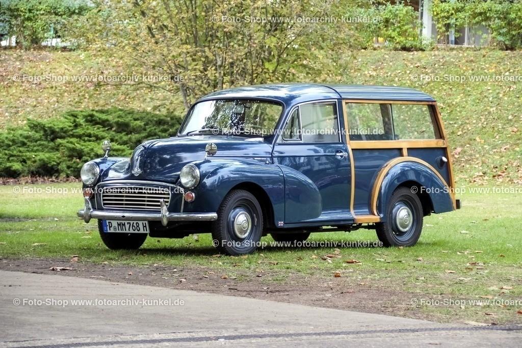 Morris Minor 1000 Traveller Kombi 2 Türen, 1956-71 | Morris Minor 1000 Traveller Kombi 2 Türen, Hecktüren, Farbe: Blau, Bauzeit 1956-1971, Holzrahmen, GB, UK