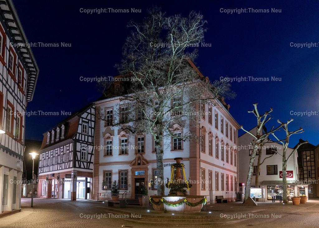 DSC_3305 | Bensheim, Nachtaufnahme, Innenstadt, Bürgerwehrbrunnen, Alte Faktorei, ,, Bild: Thomas Neu