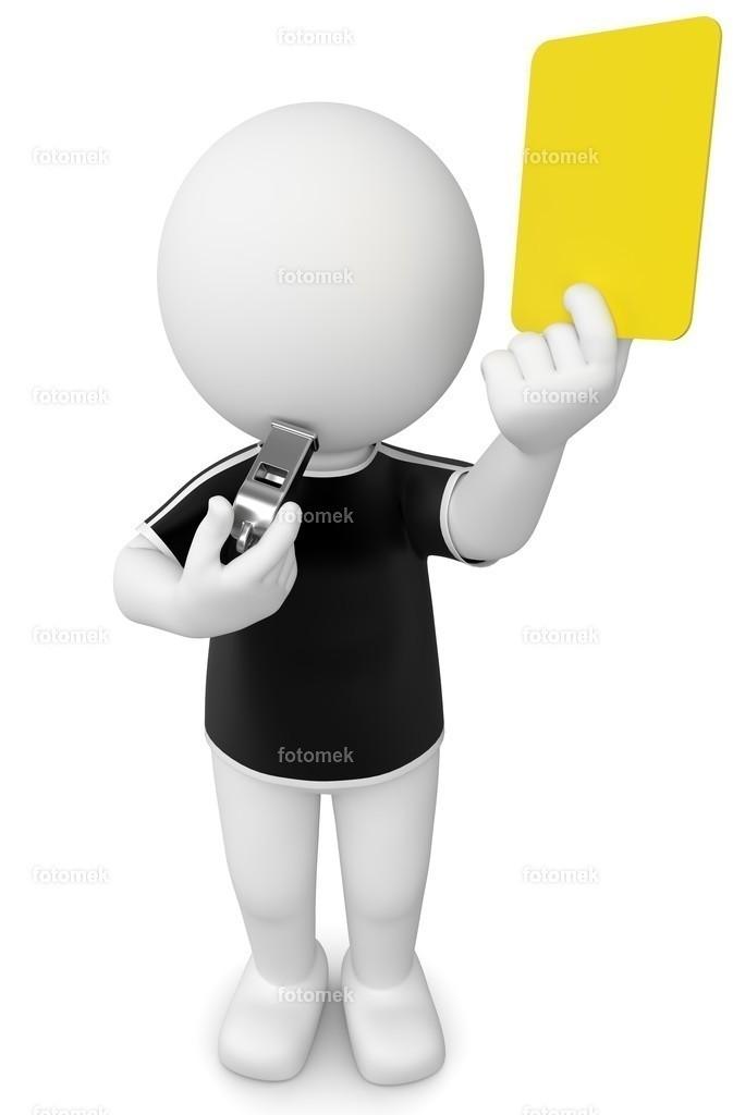 3d Männchen gelbe karte Schiedsrichter