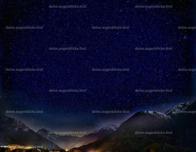 Sterne in Tirol | Sternenhimmel über Tirol.