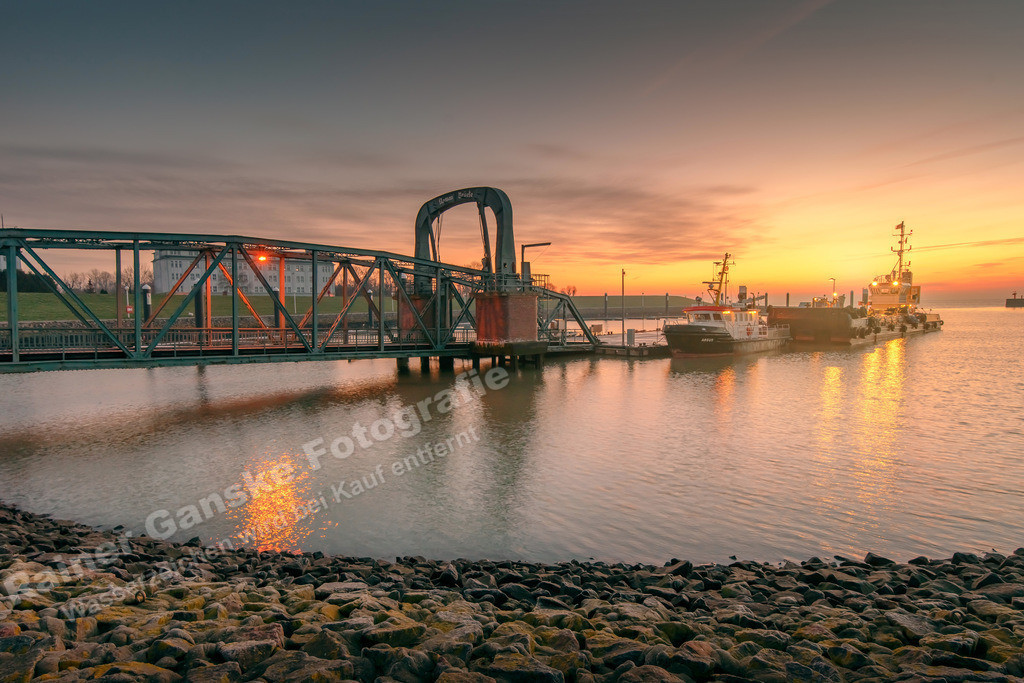 20190119 Nassauhafen Wilhelmshaven am Morgen