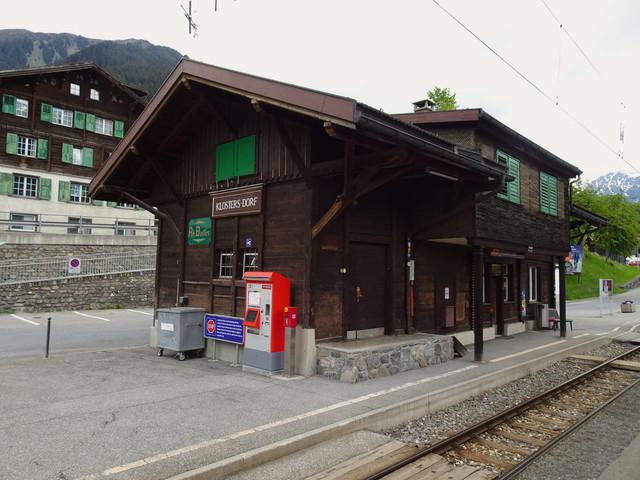 Bahnhof Klosters Dorf | Der Bahnhof von Klosters Dorf
