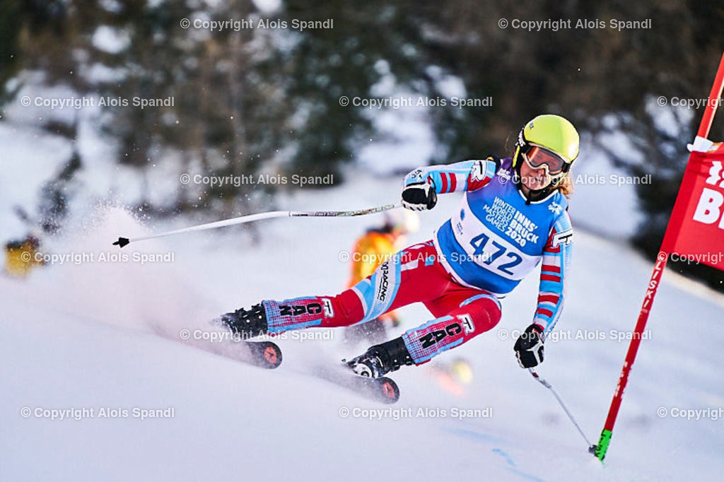 ALS6044_WWMG_GS-II_C   (C) FotoLois.com, Alois Spandl, WinterWorldMastersGames 2020 Innsbruck, Giant Slalom-II Gruppe C Damen, Patscherkofel Olympiaabfahrt, Mi 15. Jänner 2020.