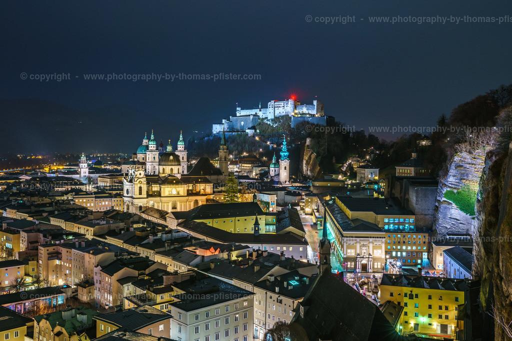 Salzburg Mönchsberg am Abend-3