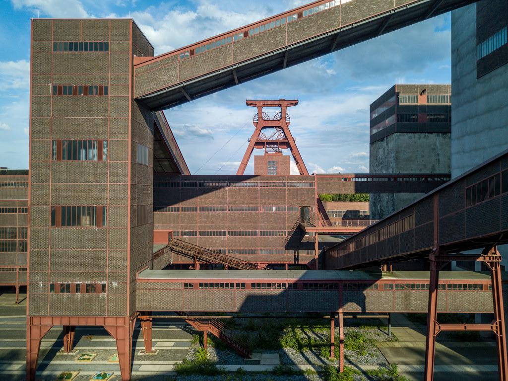 JT-170814064 | Welterbe Zeche Zollverein, Fördergerüst Schacht 12,  Essen, Deutschland,