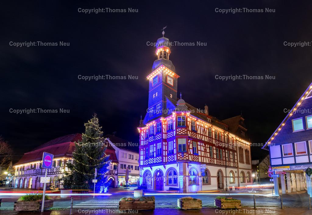 DSC_4190-HDR | ble,Lorsch, blaues Weihnachtswunder, Innenstadt, historisches Rathaus, ,, Bild: Thomas Neu