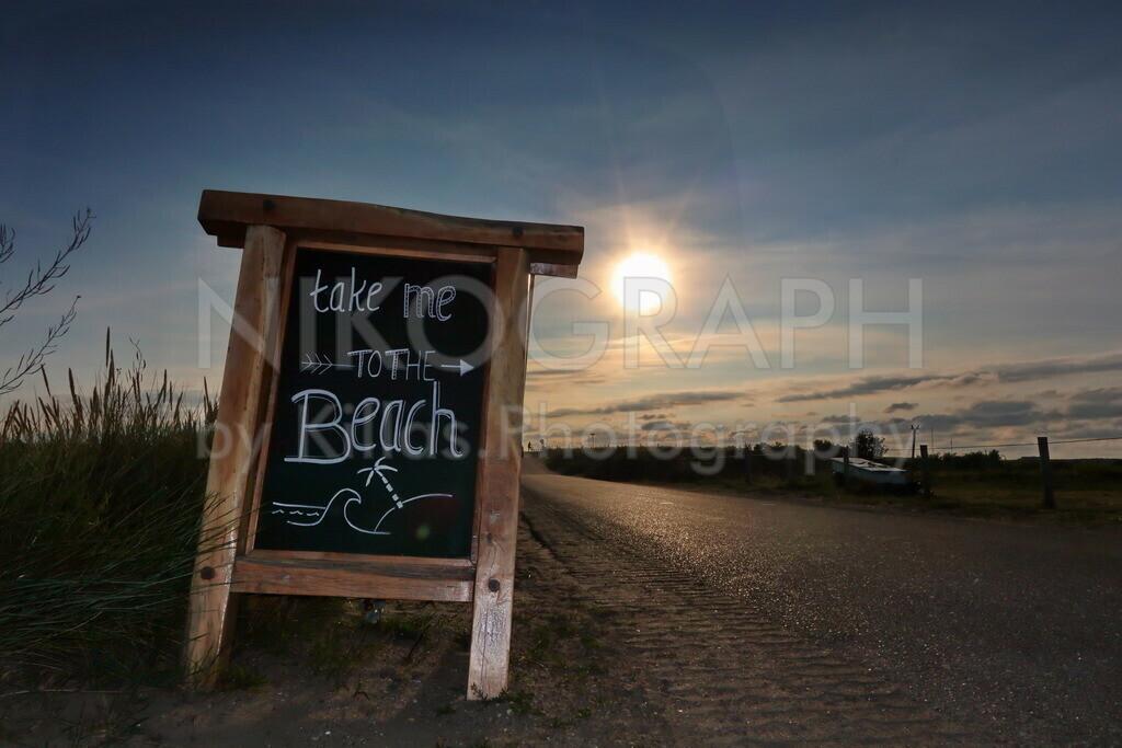 Take me to the Beach | Ein plakativer Moment auf der Nordseeinsel Texel.