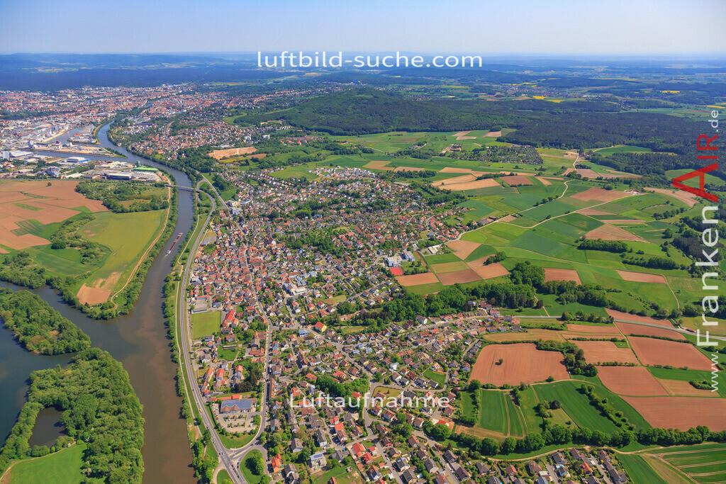 bischberg-18-330   aktuelles Luftbild von  Bischberg - Luftaufnahme wurde 2018 von https://frankenair.de mittels Flugzeug (keine Drohne) erstellt.