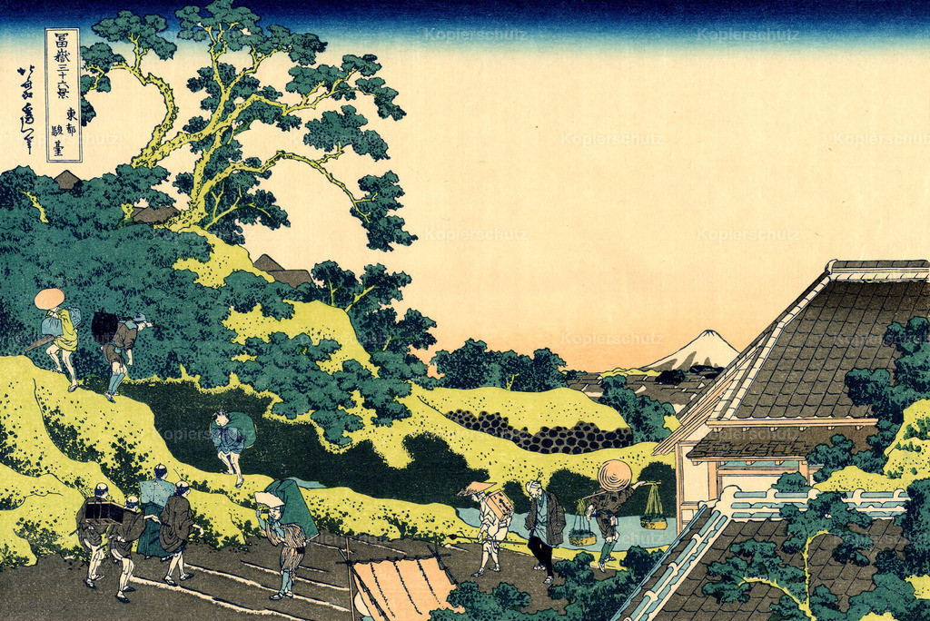 The-Fuji-seen-from-the-Mishima-pass by Katsushika Hokusai - Large Format
