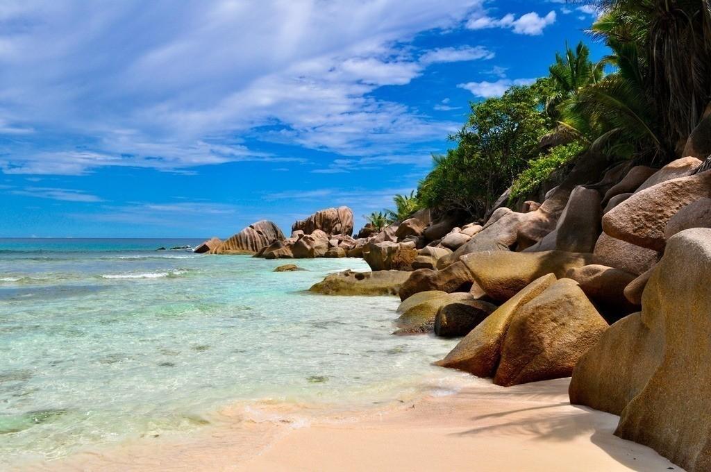 Seychellen - Anse Cocos | Idyllisch Bucht auf der Insel La Digue