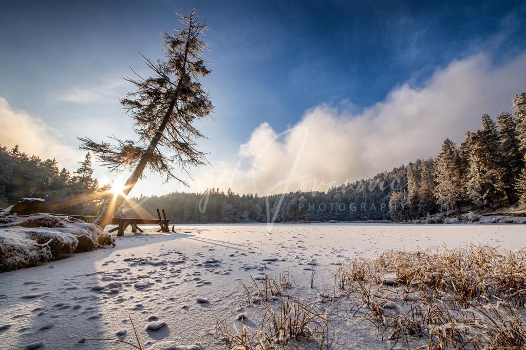Sonnenuntergang | Winterlicher Sonnenuntergang am Möserer See