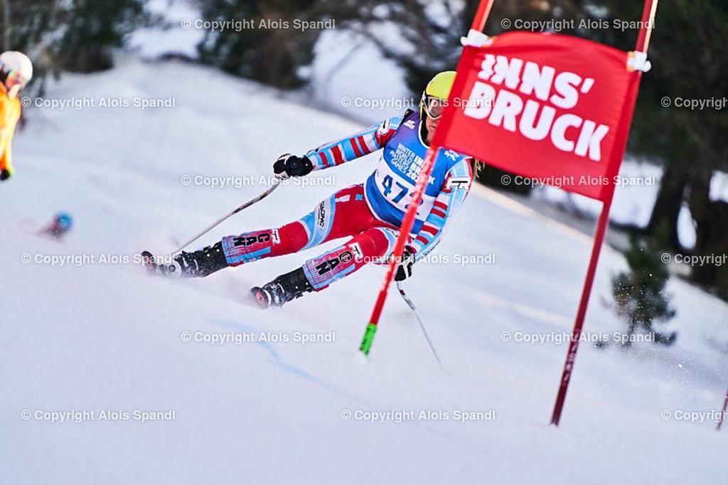 ALS6041_WWMG_GS-II_C   (C) FotoLois.com, Alois Spandl, WinterWorldMastersGames 2020 Innsbruck, Giant Slalom-II Gruppe C Damen, Patscherkofel Olympiaabfahrt, Mi 15. Jänner 2020.