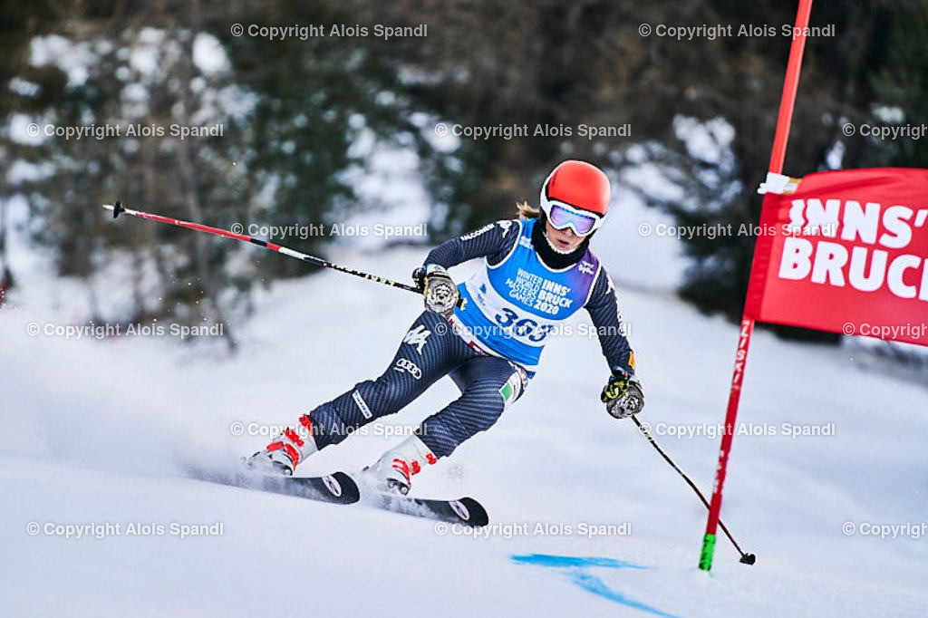 ALS5468_WWMG_GS-II_C | (C) FotoLois.com, Alois Spandl, WinterWorldMastersGames 2020 Innsbruck, Giant Slalom-II Gruppe C Damen, Patscherkofel Olympiaabfahrt, Mi 15. Jänner 2020.