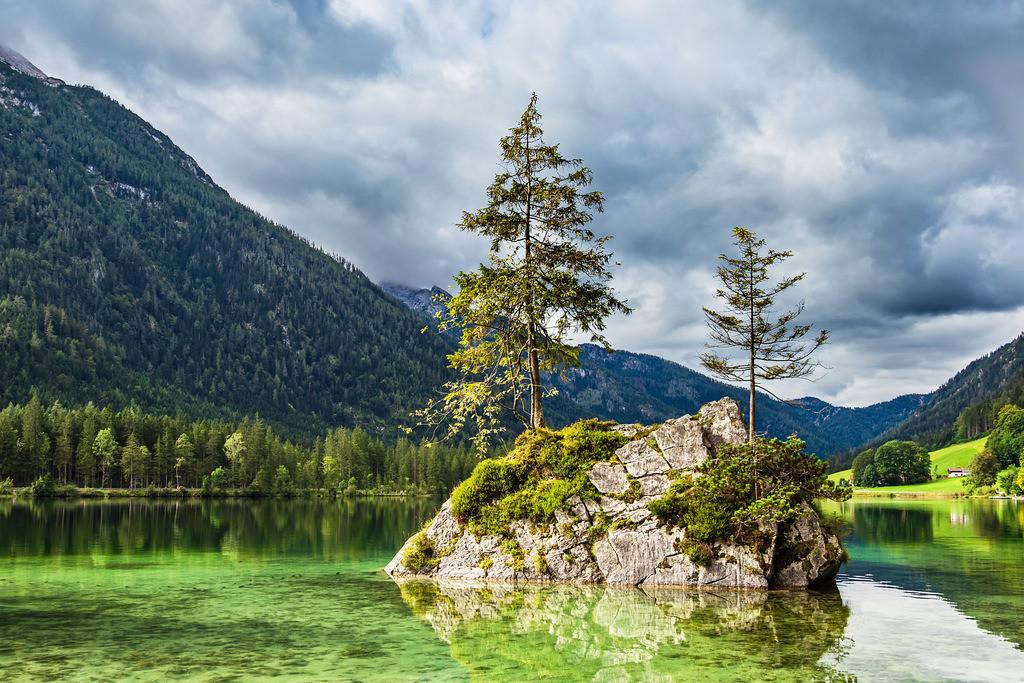 Der Hintersee in Ramsau im Berchtesgadener Land | Der Hintersee in Ramsau im Berchtesgadener Land.