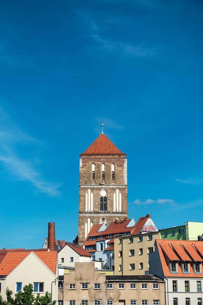 Blick auf die Östliche Altstadt von Rostock. | Blick auf die Östliche Altstadt von Rostock.