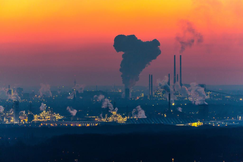 JT-160216-022 | Stahlstandort Duisburg, Kulisse der ThyssenKrupp Steel Stahlwerke, Hochöfen, in Duisburg Bruckhausen,