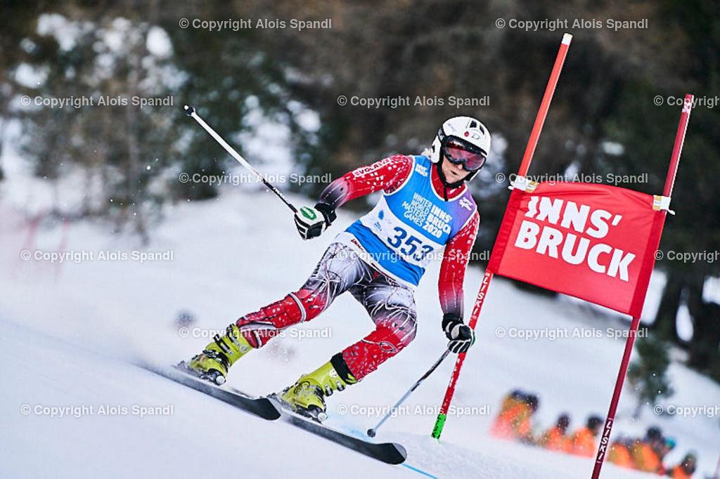 ALS5427_WWMG_GS-II_C | (C) FotoLois.com, Alois Spandl, WinterWorldMastersGames 2020 Innsbruck, Giant Slalom-II Gruppe C Damen, Patscherkofel Olympiaabfahrt, Mi 15. Jänner 2020.