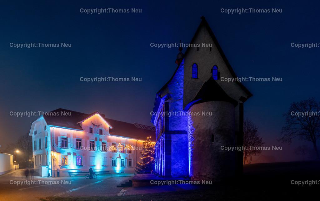 DSC_3896   ble,Lorsch, blaues Weihnachtswunder, Innenstadt, ,, Bild: Thomas Neu