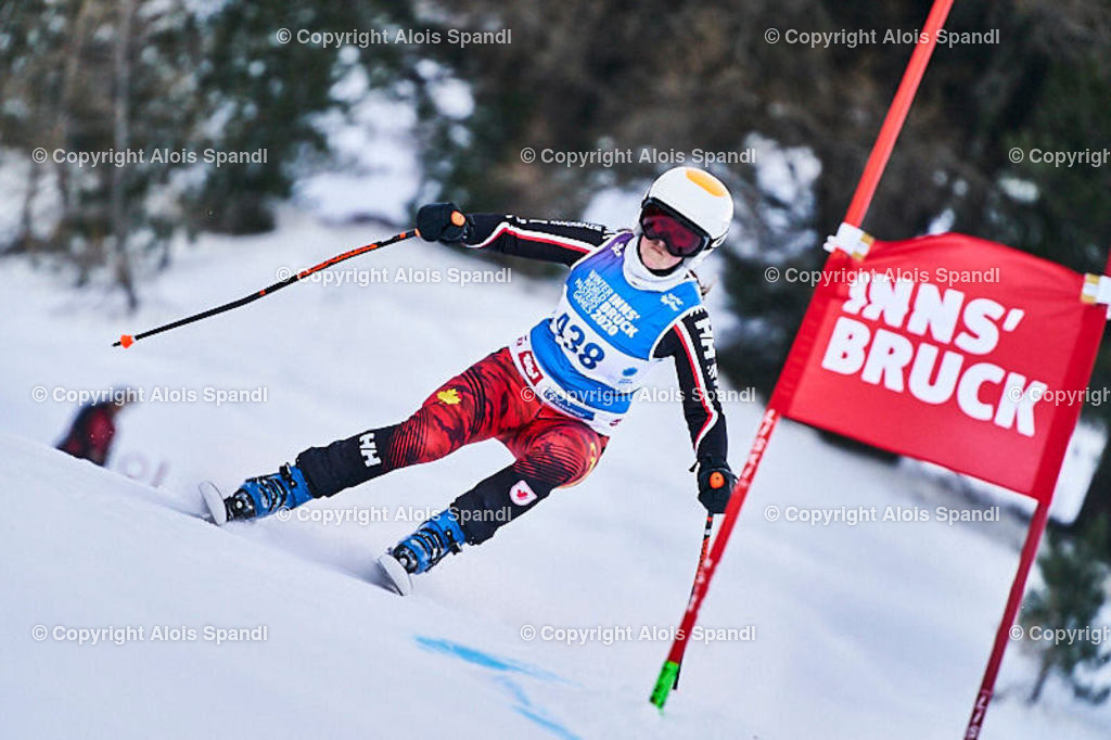 ALS5868_WWMG_GS-II_C | (C) FotoLois.com, Alois Spandl, WinterWorldMastersGames 2020 Innsbruck, Giant Slalom-II Gruppe C Damen, Patscherkofel Olympiaabfahrt, Mi 15. Jänner 2020.