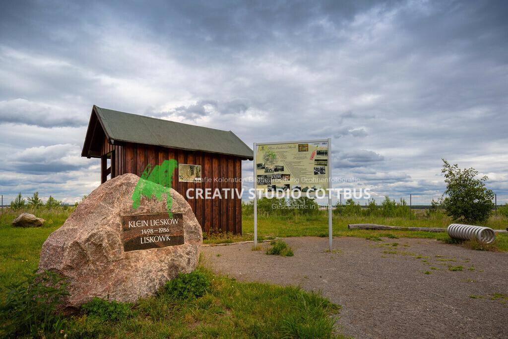 Gedenkstätte Klein Lieskow | Zur Ehren der abgebaggerten Orte (Klein Lieskow, Groß Lieskow, Tranitz) für den damaligen Tagebau Cottbus Nord, heute zukünftiger Cottbuser Ostsee.