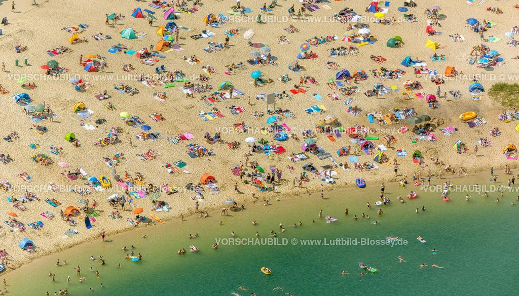 Haltern13081735 | Silbersee II aus der Luft, Sandstrand und türkisfarbenes Wasser, Luftbild von Haltern am See