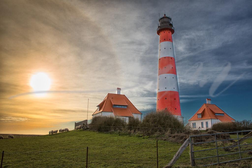Westerhever Leuchtturm | Sonne und Leuchtturm gehen ja immer