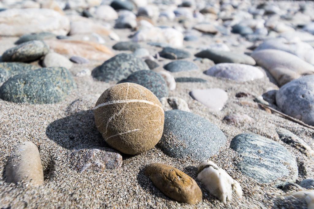 Steine im Flußbett